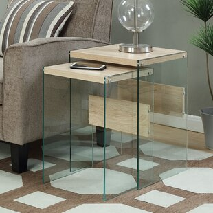 Reviews Calorafield 2 Piece Nesting Tables By Wade Logan