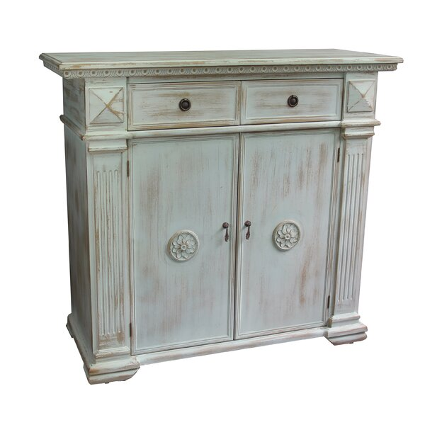 Maidenhead Antique Wooden 2 Door Accent Cabinet by Feminine French Country Feminine French Country