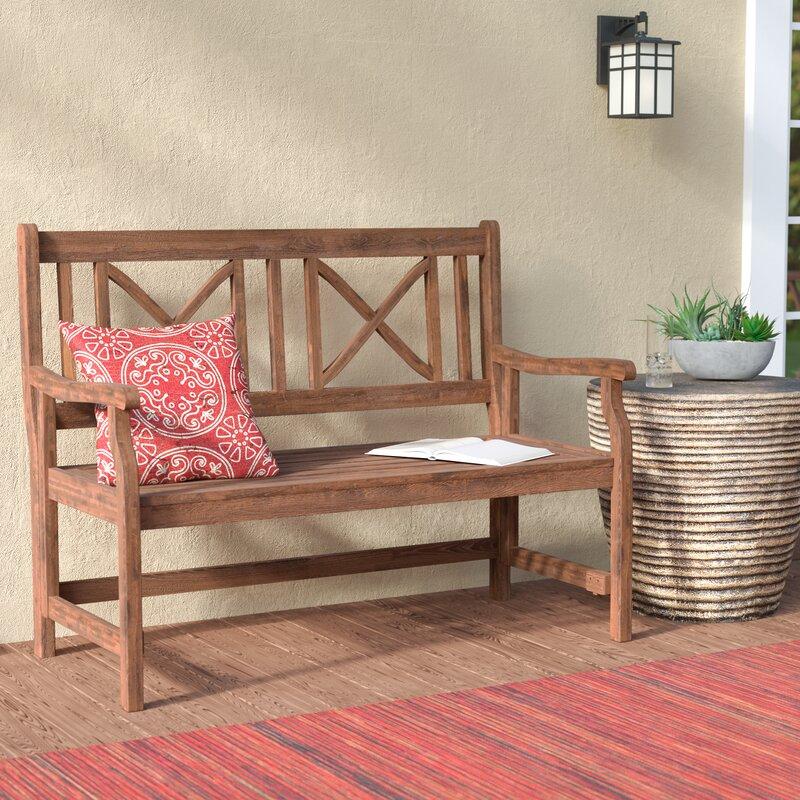 World Menagerie Conner Folding Acacia Wood Garden Bench Reviews