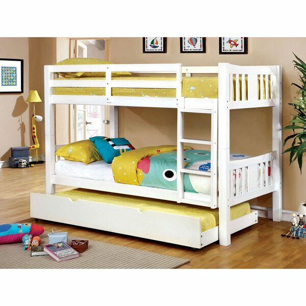 Conwell Twin Over Twin Bunk Bed with Trundle by Harriet Bee