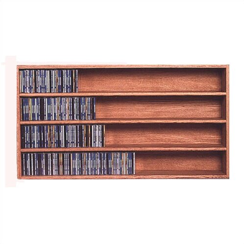 400 Series 472 CD Wall Mounted Multimedia Storage Rack by Wood Shed