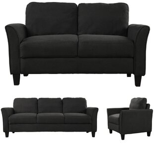 Erka 3 Piece Living Room Set by Red Barrel Studio®