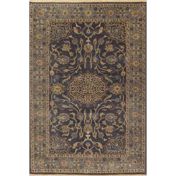 Landreneau Hand-Knotted Blue Area Rug by Darby Home Co