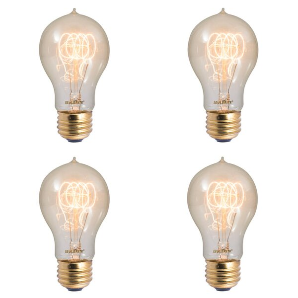 60W E26 Dimmable Incandescent Light Bulb (Set of 4) by Bulbrite Industries