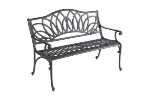 Fullerton Aluminum Garden Bench by Darby Home Co Darby Home Co
