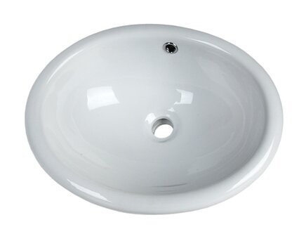 White China Vitreous China Oval Undermount Bathroom Sink with Overflow by D'Vontz
