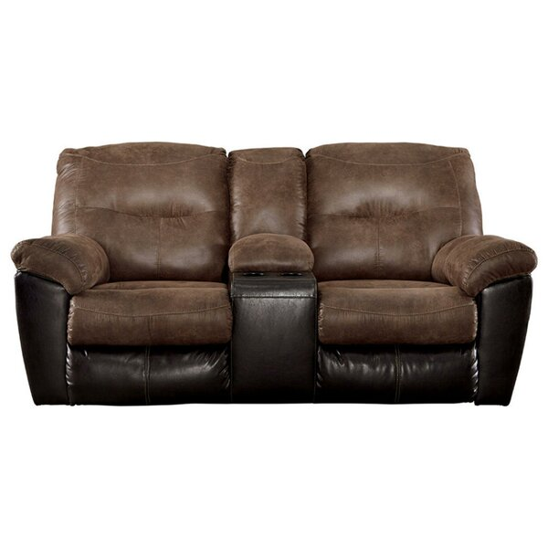 Get Great Commer Reclining Loveseat by Winston Porter by Winston Porter