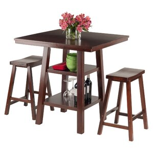 Orlando 3 Piece Pub Table Set by Luxury Home