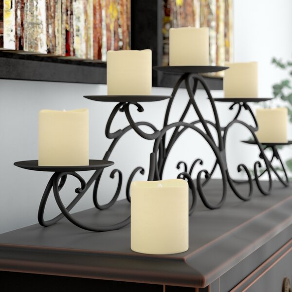 Battery Operated Mini Pillar Candle (Set of 6) by Three Posts