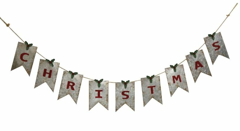 Wonderful Christmas Banner Part - 3: Galvanized Christmas Banner