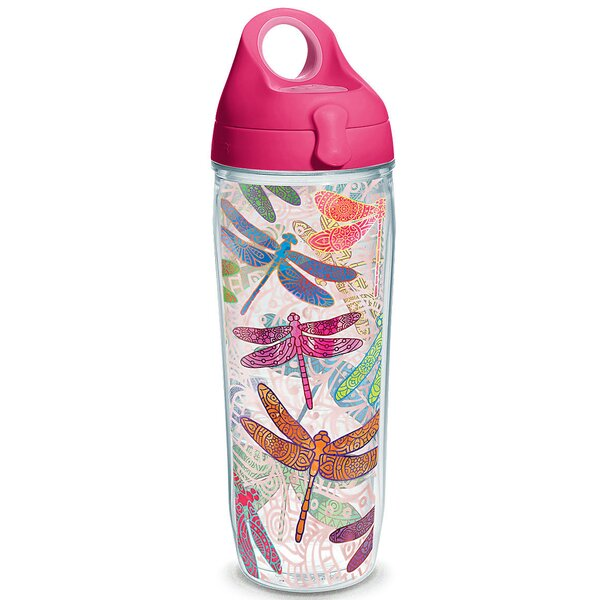 Garden Party Dragonfly Mandala 24 oz. Plastic Water Bottle by Tervis Tumbler