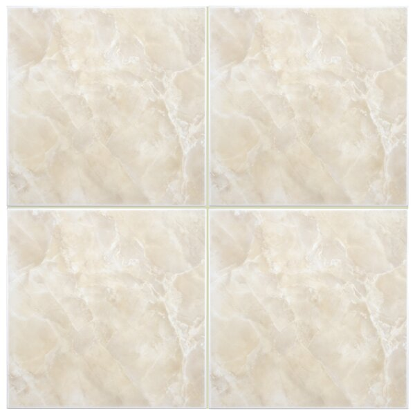 Alpha 11.75 x 11.75 Ceramic Field Tile in Beige/White by EliteTile