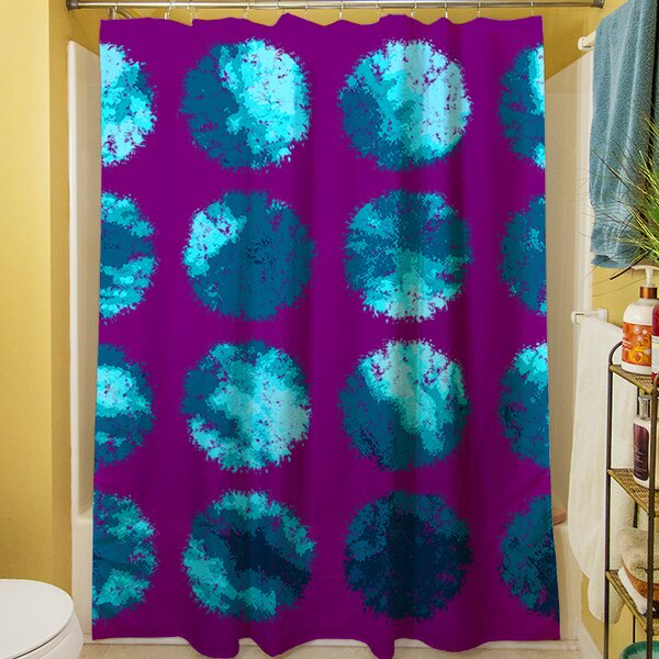 Fuzzy Dots Shower Curtain by Manual Woodworkers & Weavers