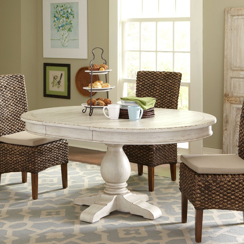 Clearbrook Round Extending Dining Table & Reviews | Birch Lane