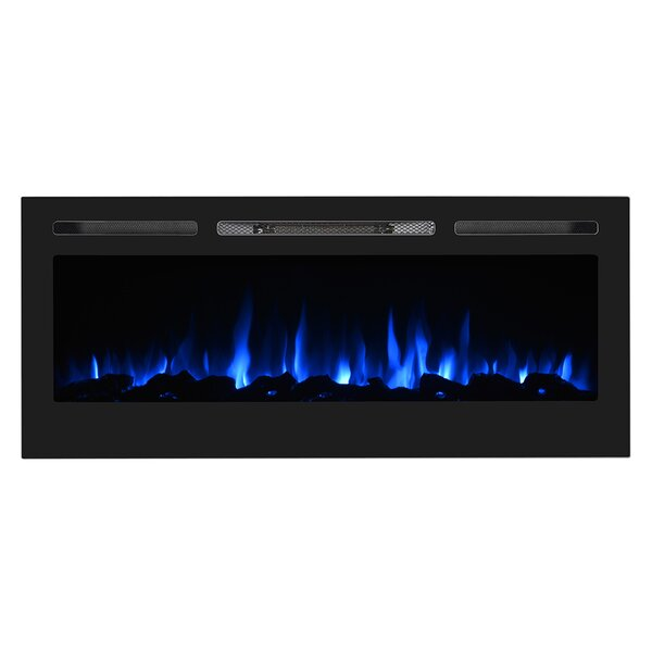 Oakvale Recessed Wall Mounted Electric Fireplace Insert By Ebern Designs