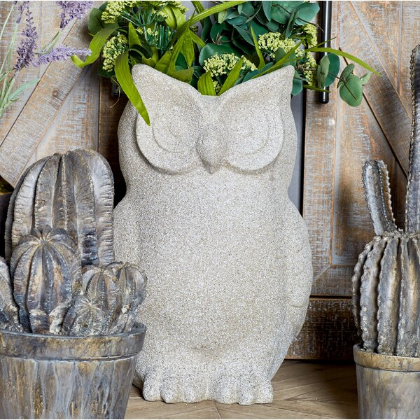 Farmhouse Owl Clay Statue Planter by Cole & Grey