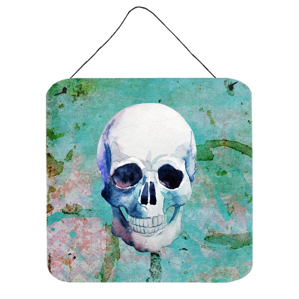 Skull Wall Décor with Hanging Rope by East Urban Home