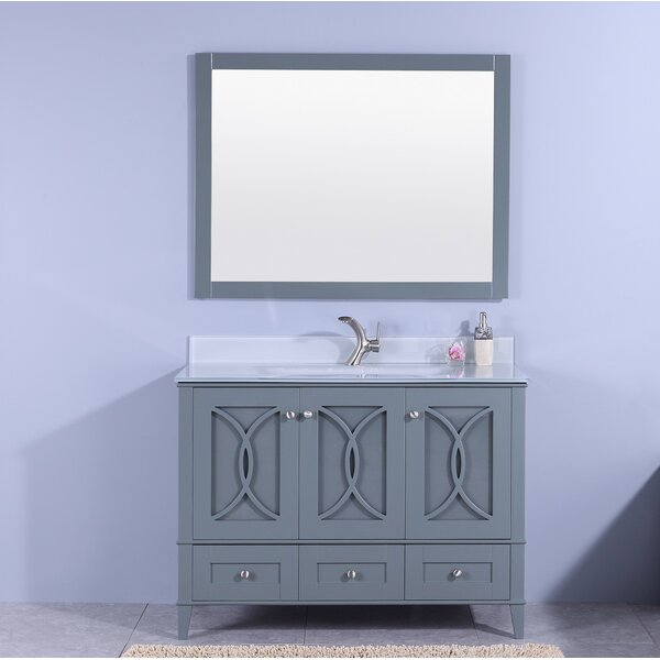 Filmore 48 Single Bathroom Vanity with Mirror by House of Hampton