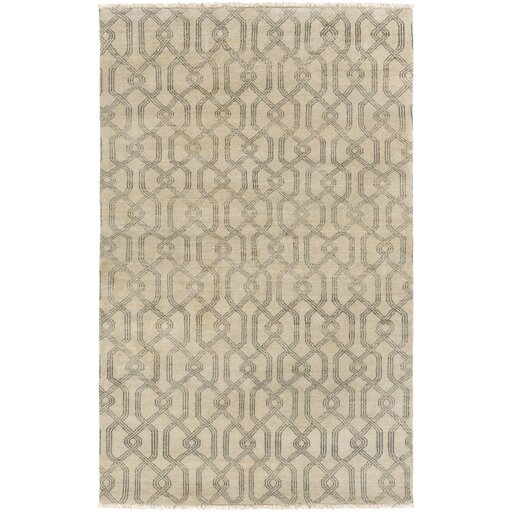 Sutton Hand-Tufted Wool Charcoal/Light Gray Area Rug by DwellStudio