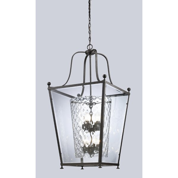 Cully 8 - Light Lantern Geometric Chandelier By Darby Home Co