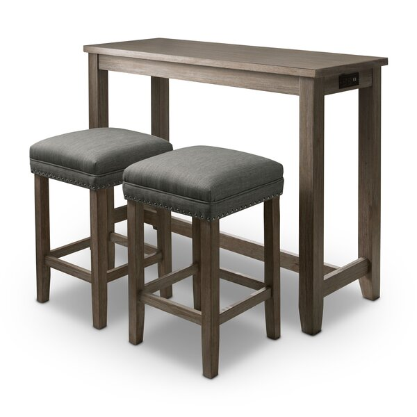 Hanna 3 Piece Counter Height Dining Set by Foundry Select Foundry Select