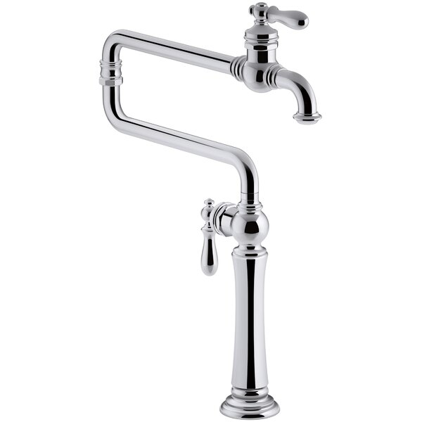 Artifacts Single-Hole Deck-Mount Pot Filler with Extended Spout by Kohler