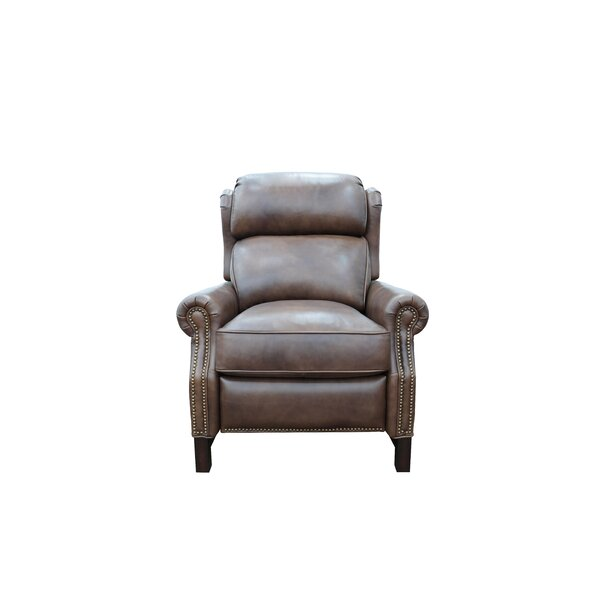 Hofstra Leather Manual Recliner by Canora Grey Canora Grey