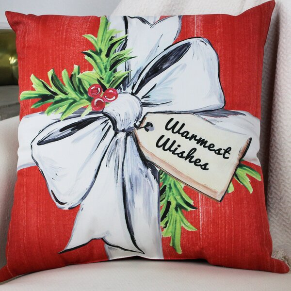 Warmest Wishes Throw Pillow by One Bella Casa