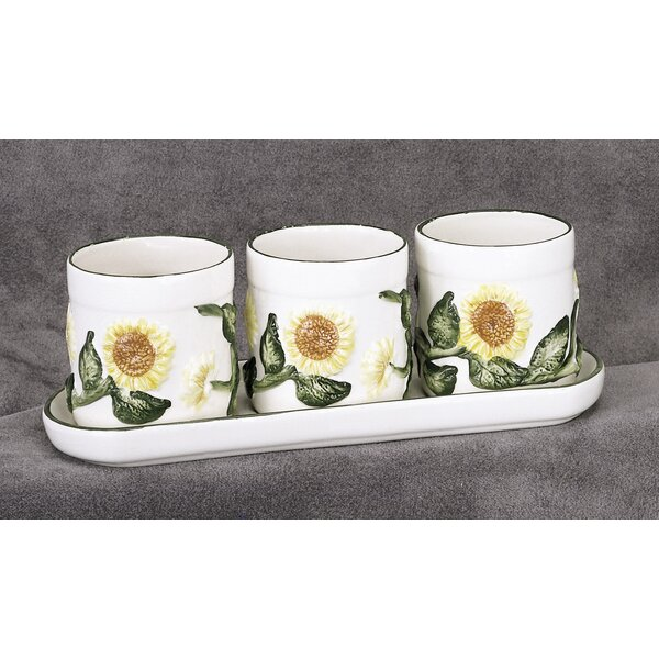 Oliva Ceramic 4-Piece Pot Planter Set by August Grove