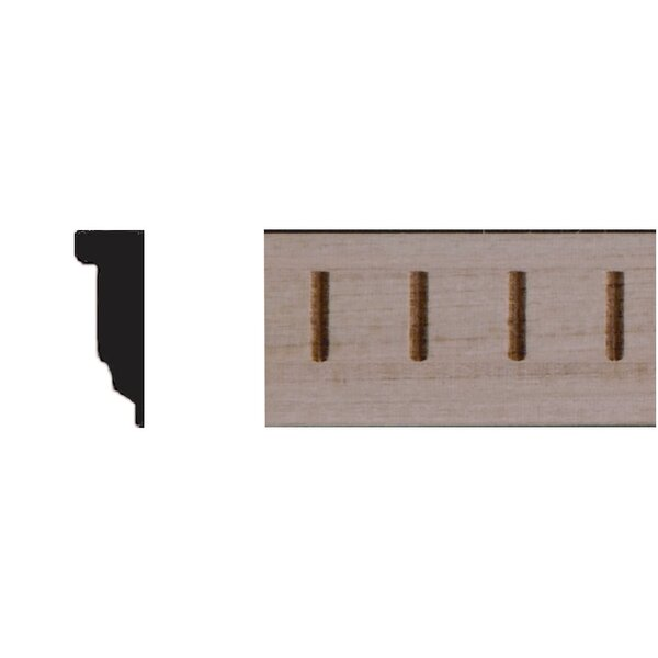 1/4 in. x 3/4 in. x 4 ft. Basswood Dentil Panel Moulding by Manor House