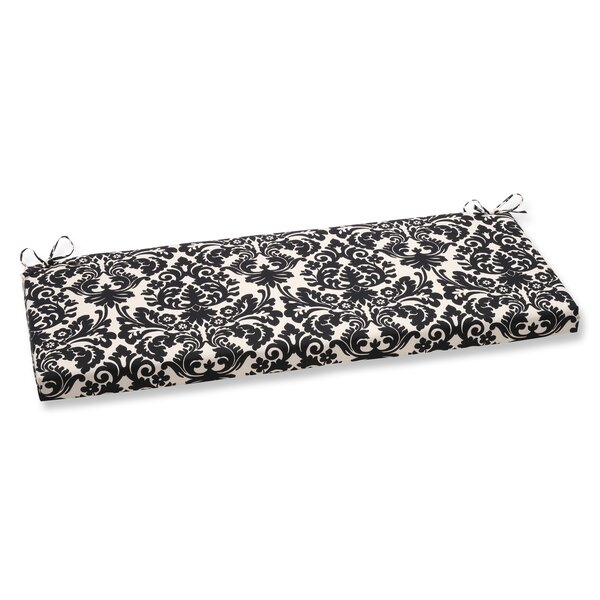 Damask Indoor/Outdoor Bench Cushion By Charlton Home