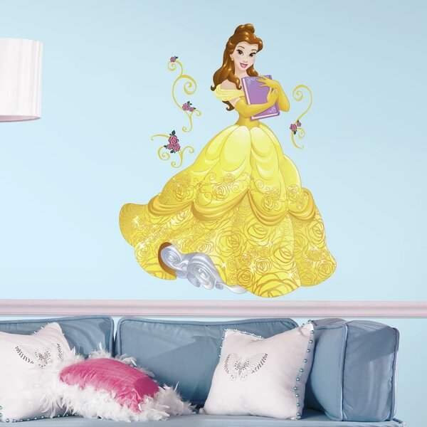 Disney Sparkling Belle Peel and Stick Giant Wall Decal by Room Mates