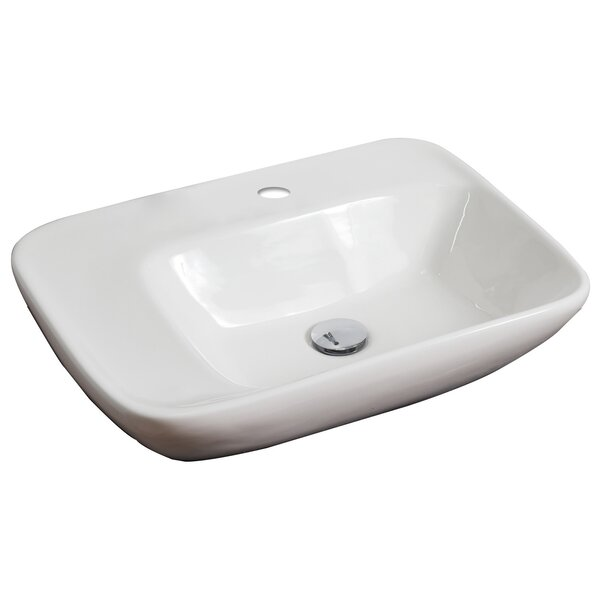 Ceramic 24 Wall Mount Bathroom Sink by American Imaginations