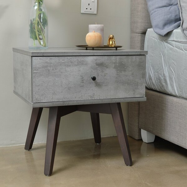 Paulson Bedside 1 Drawer Nightstand by Union Rustic