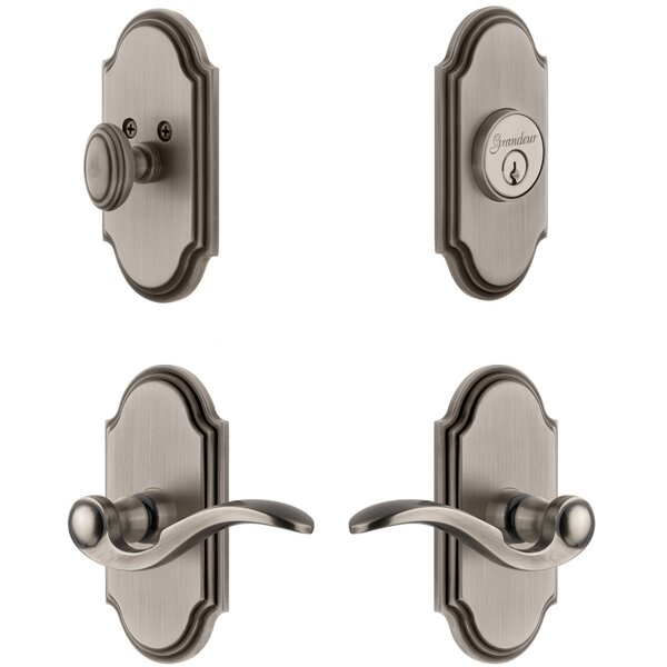 Arc Single Cylinder Lever Combo Pack with Bellagio Lever by Grandeur