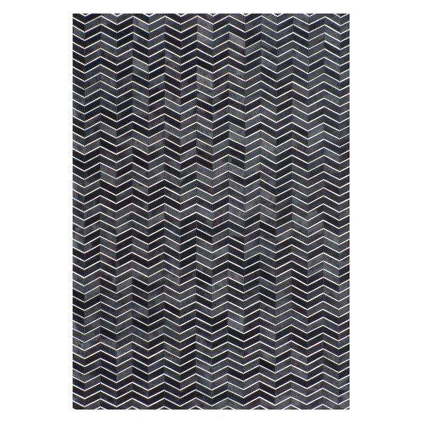 Natural Hide Black/Gray Area Rug by Exquisite Rugs