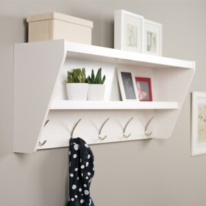 Manzanola Floating Entryway Shelf & Coat Rack
