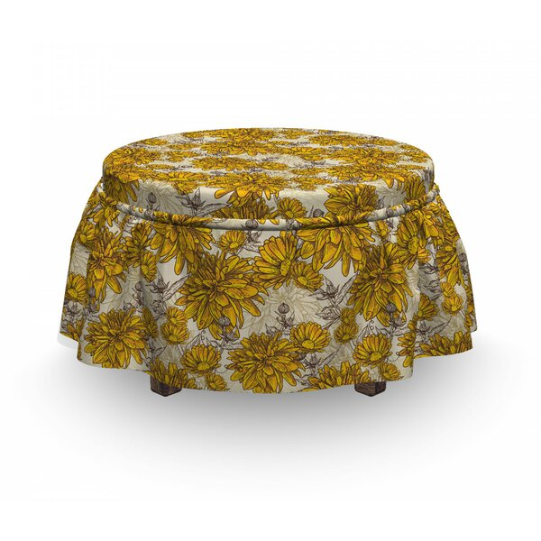 Bouquet Botany Ottoman Slipcover (Set Of 2) By East Urban Home