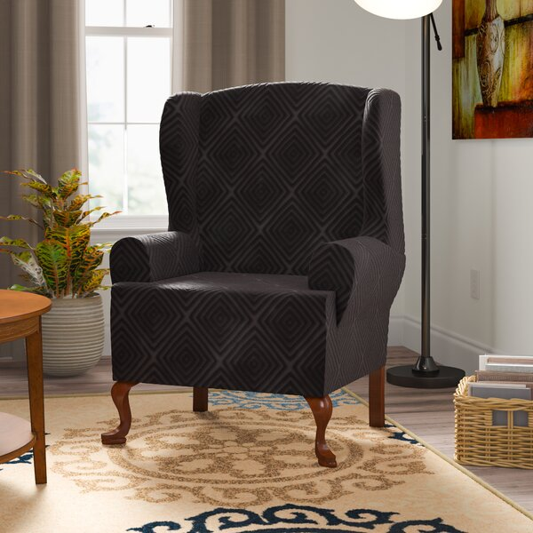 Home & Garden Diamond T-Cushion Wingback Slipcover