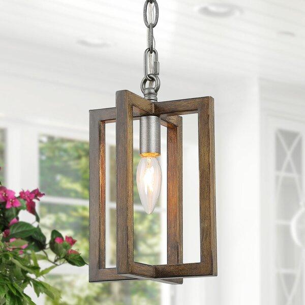 Torrez 1-Light Lantern Rectangle Pendant by Rosalind Wheeler Rosalind Wheeler