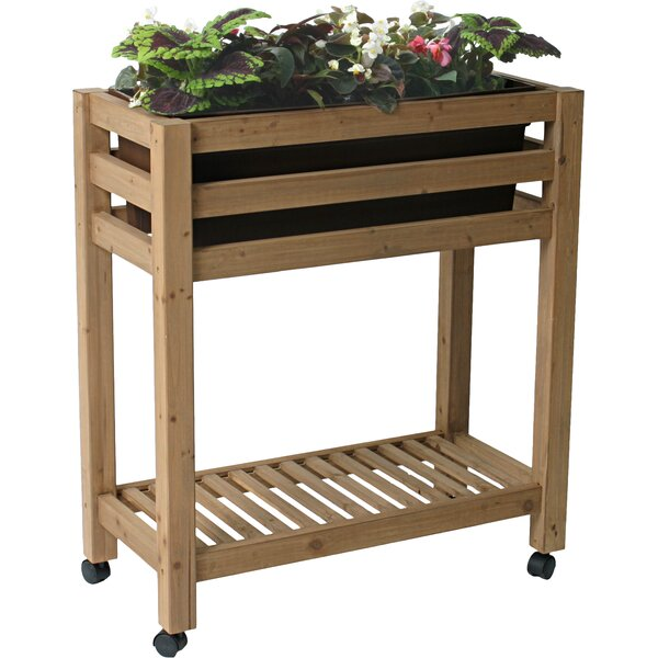 ErgoGarden Self Watering Wood Raised Planter by Algreen
