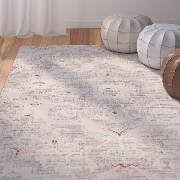 Chauncey Light Gray Area Rug by Bungalow Rose
