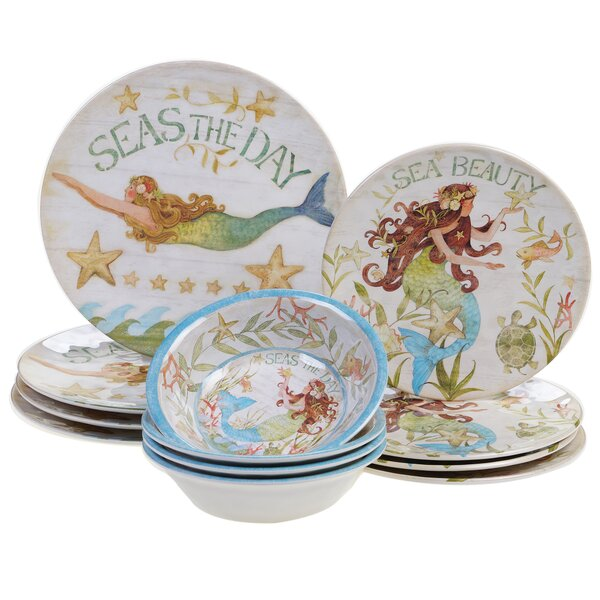 Griffin Heavy Weight Melamine 12 Piece Dinnerware Set, Service for 4 by Rosecliff Heights