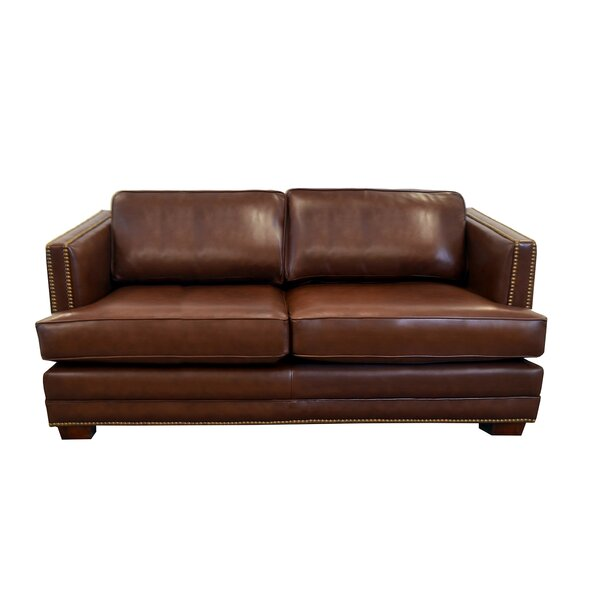 Millbury Leather Loveseat by Westland and Birch