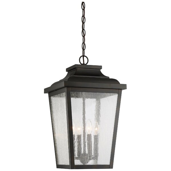 Mayhugh 4-Light Outdoor Hanging Lantern by Three Posts