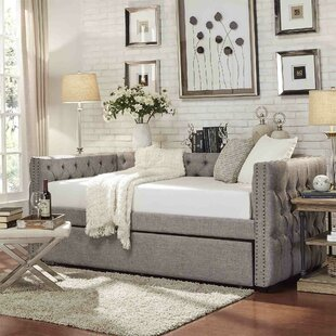 Scribner Button Tufted Full Daybed with Trundle