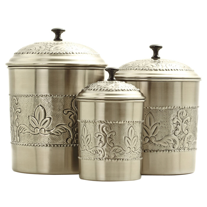 sc 1 st  Wayfair & Old Dutch Victoria 3 Piece Kitchen Canister Set \u0026 Reviews | Wayfair