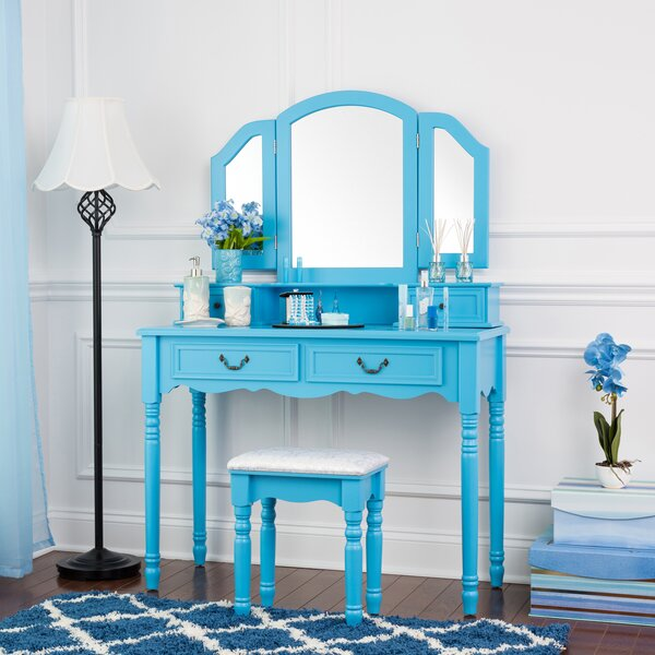Branum Wooden Dressing Table Vanity Set by House of Hampton