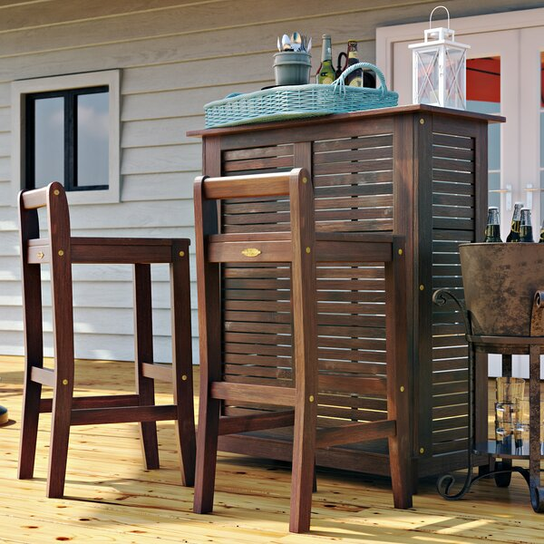 Twana 3 Piece Bar Set by Beachcrest Home