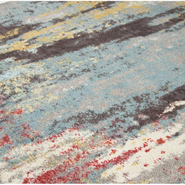 Groce Blue/Gray Area Rug by Wrought Studio